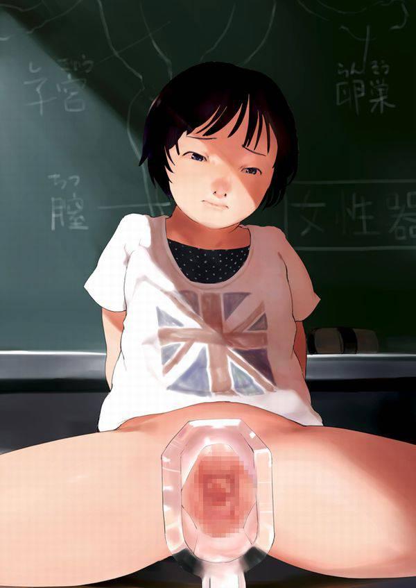 【私…内臓見られちゃってる…///】マンコにクスコ挿入られてる女子達の二次エロ画像【36】