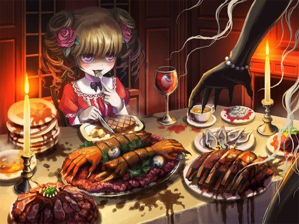 【比喩じゃないよ】人を食ったような二次エログロ画像【13】
