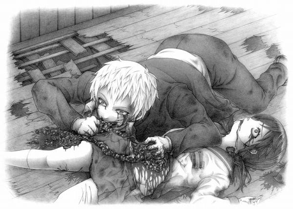 【比喩じゃないよ】人を食ったような二次エログロ画像【25】