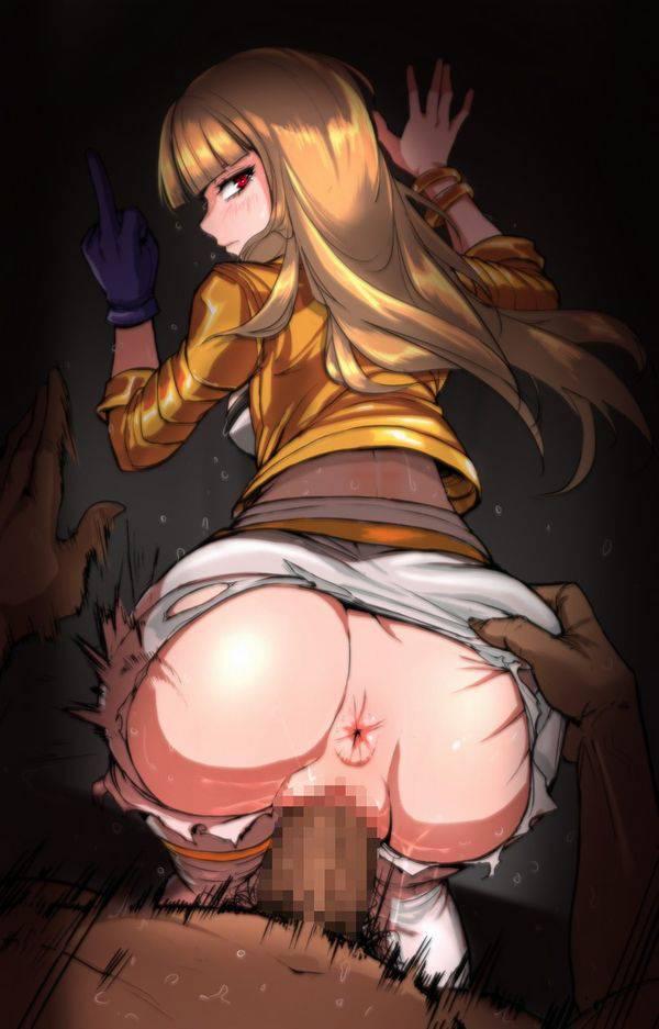 【アナルの皺が気になる】肛門が見えるアングルでの後背位セックス二次エロ画像【9】