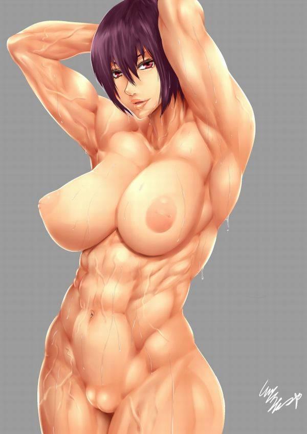 【まるで彫刻のよう】全裸筋肉質女子の二次エロ画像【3】