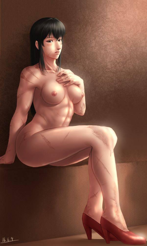 【まるで彫刻のよう】全裸筋肉質女子の二次エロ画像【7】