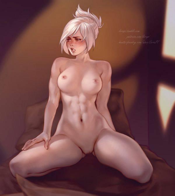 【まるで彫刻のよう】全裸筋肉質女子の二次エロ画像【12】