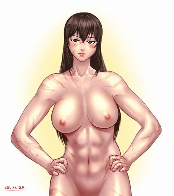 【まるで彫刻のよう】全裸筋肉質女子の二次エロ画像【17】