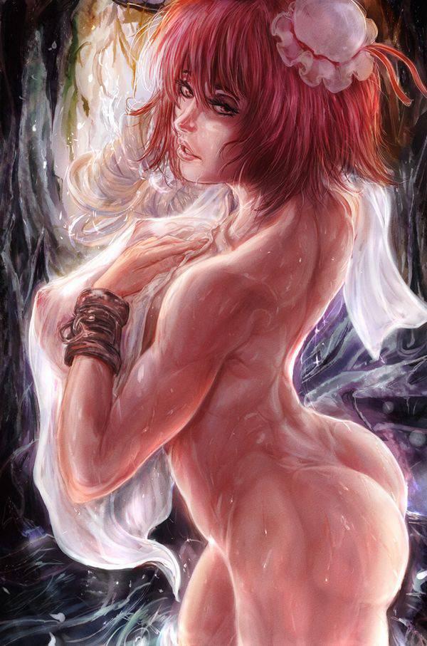 【まるで彫刻のよう】全裸筋肉質女子の二次エロ画像【19】
