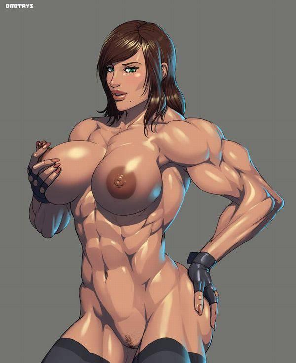 【まるで彫刻のよう】全裸筋肉質女子の二次エロ画像【28】