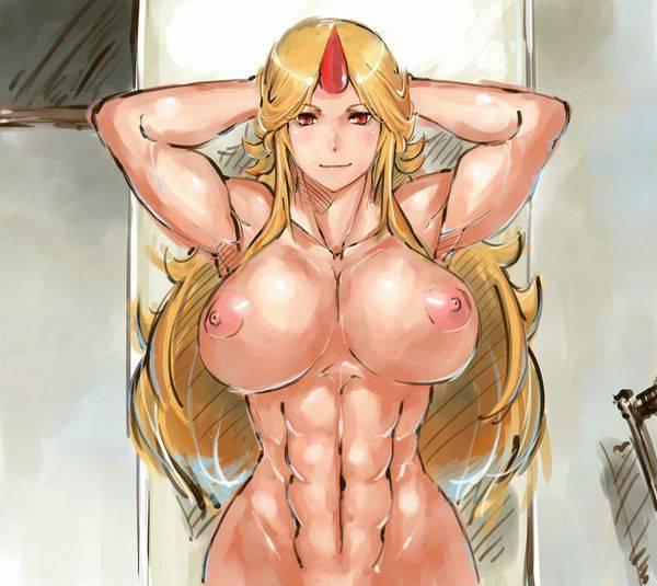 【まるで彫刻のよう】全裸筋肉質女子の二次エロ画像【31】