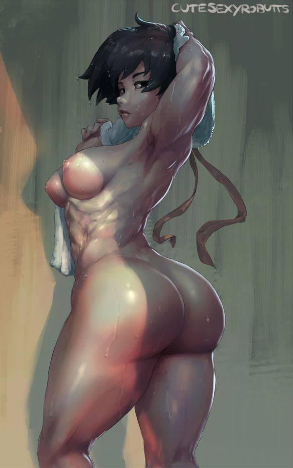 【まるで彫刻のよう】全裸筋肉質女子の二次エロ画像【35】