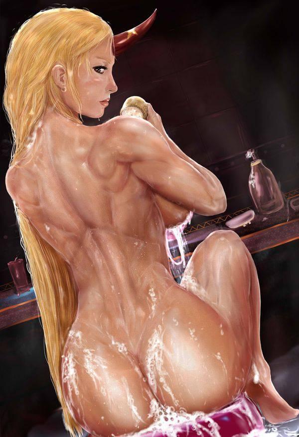 【まるで彫刻のよう】全裸筋肉質女子の二次エロ画像【36】