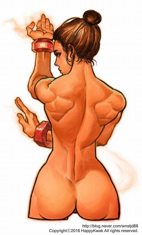 【まるで彫刻のよう】全裸筋肉質女子の二次エロ画像【37】