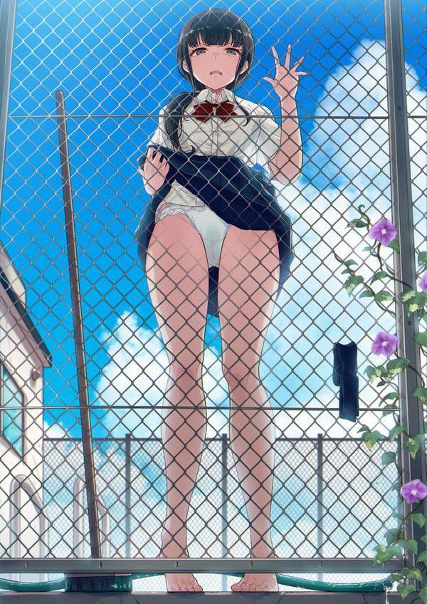 【服装検査】スカートまくってパンツを見せる女子高生の二次エロ画像【40】