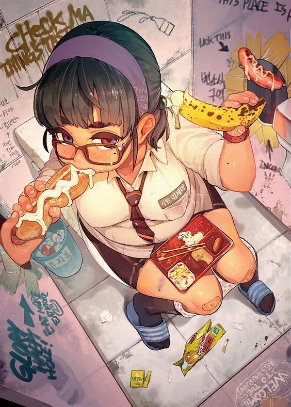 【そんだけ食べてりゃ】ぽっちゃり女子がなんか食べてる二次エロ画像【痩せないよ】【24】