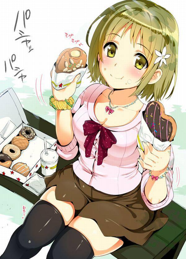 【そんだけ食べてりゃ】ぽっちゃり女子がなんか食べてる二次エロ画像【痩せないよ】【37】