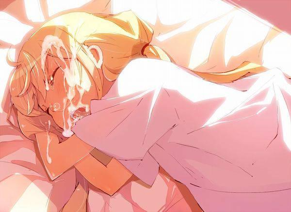 【寝起きどっきり】寝てる女の子にこっそり顔射してる二次エロ画像【19】