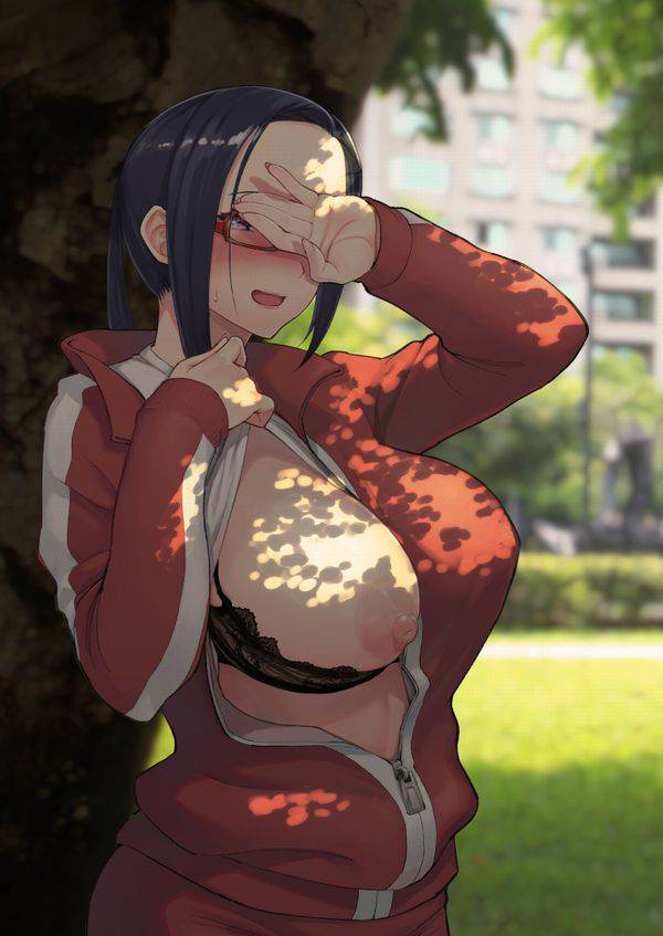 【これかい?】洋服の前を開けて片乳見せてくれてる女子達の二次エロ画像【ポロン】【1】
