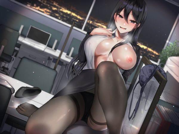 【これかい?】洋服の前を開けて片乳見せてくれてる女子達の二次エロ画像【ポロン】【15】