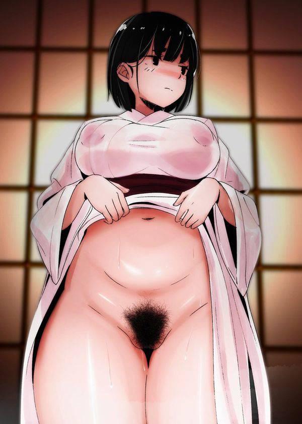 【くたびれてる】腹の肉もマン毛もだらしない女子達の二次エロ画像【26】