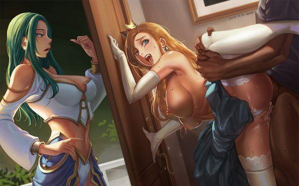 【軟体女子】片足上げた立位でセックスしてる二次エロ画像【35】