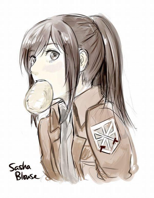 【進撃の巨人】サシャ・ブラウスのエロ画像と、芋とか食ってる画像【32】