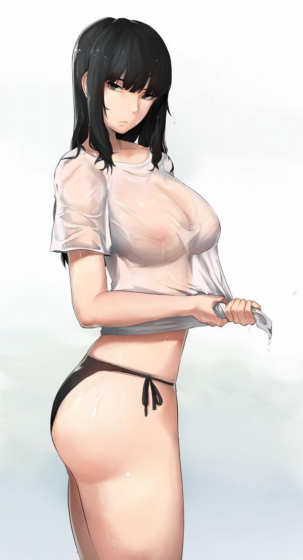 【乳首浮いてんじゃん!】ノーブラ女子達の二次エロ画像【25】
