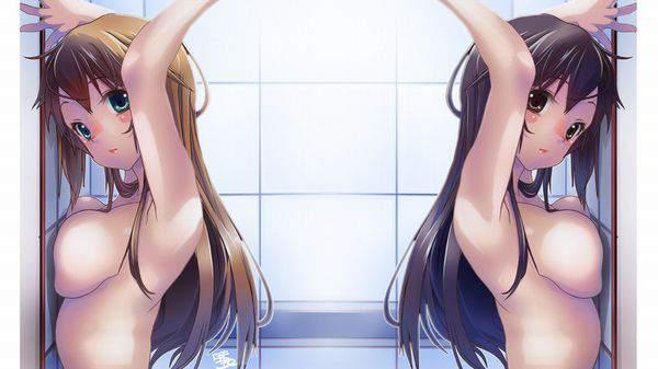 【一斉検挙】女の子達がみんなで手を上げて腋見せてる二次エロ画像【28】
