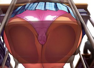 【逆さ撮り】女の子のスカートを下から見上げる二次エロ画像