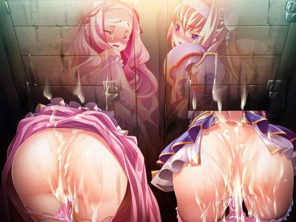 【トイレは綺麗に】滅茶苦茶にヤられまくった後の壁尻エロ画像【38】