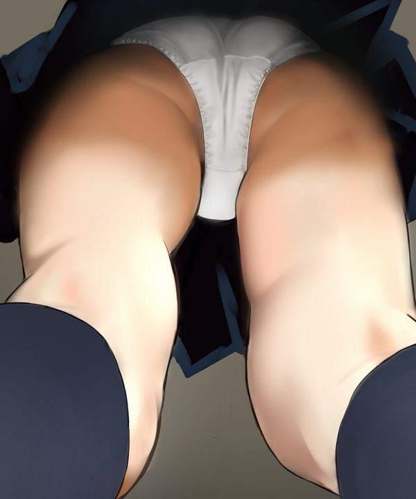 【地面に落ちてる小石の気分】で真下から女子のパンツを眺める二次エロ画像【8】