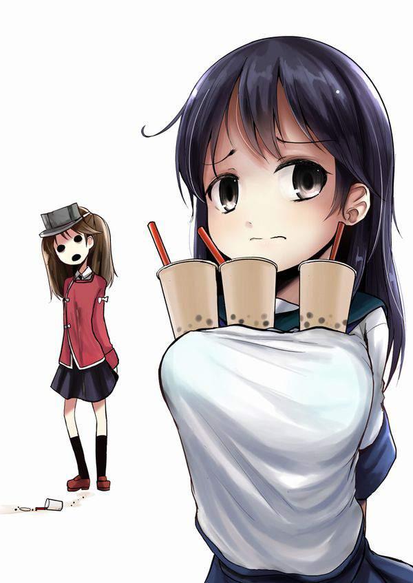 【巨乳の特権】タピオカチャレンジしてる女子達の二次エロ画像【16】