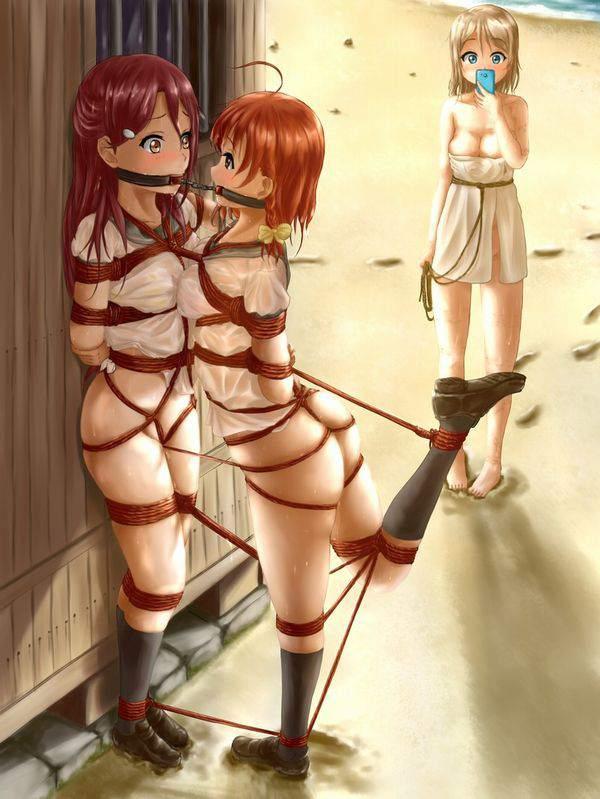 【ニコイチ】2人一緒に縛られてる女子達の二次エロ画像【3】