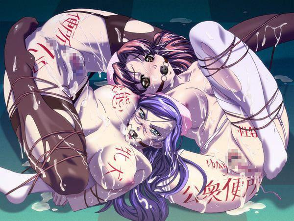 【ニコイチ】2人一緒に縛られてる女子達の二次エロ画像【13】