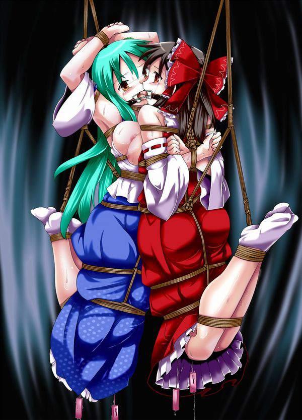 【ニコイチ】2人一緒に縛られてる女子達の二次エロ画像【16】