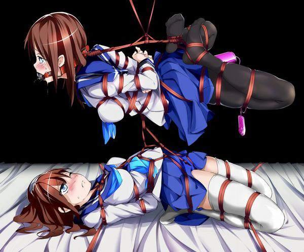 【ニコイチ】2人一緒に縛られてる女子達の二次エロ画像【17】