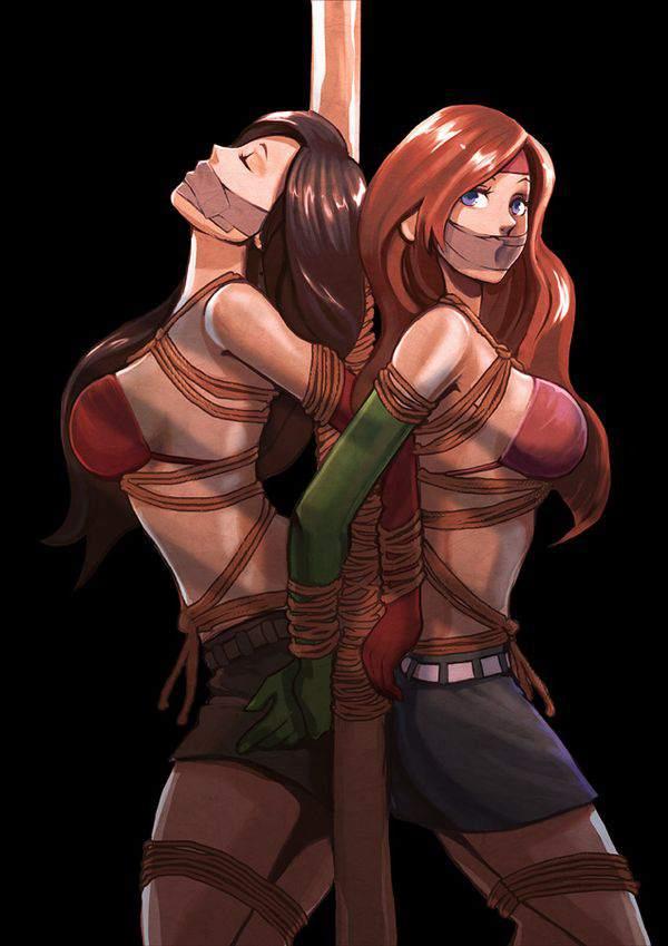 【ニコイチ】2人一緒に縛られてる女子達の二次エロ画像【18】