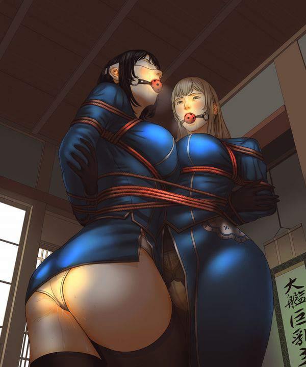 【ニコイチ】2人一緒に縛られてる女子達の二次エロ画像【26】