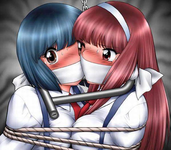 【ニコイチ】2人一緒に縛られてる女子達の二次エロ画像【36】