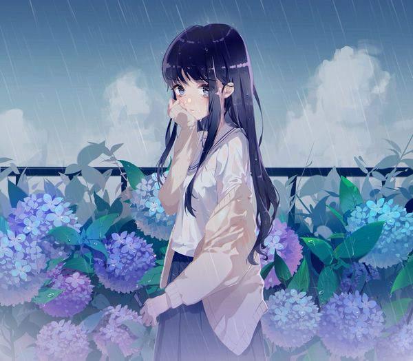 【傘が無い】雨に打たれる女子達の二次エロ画像【26】