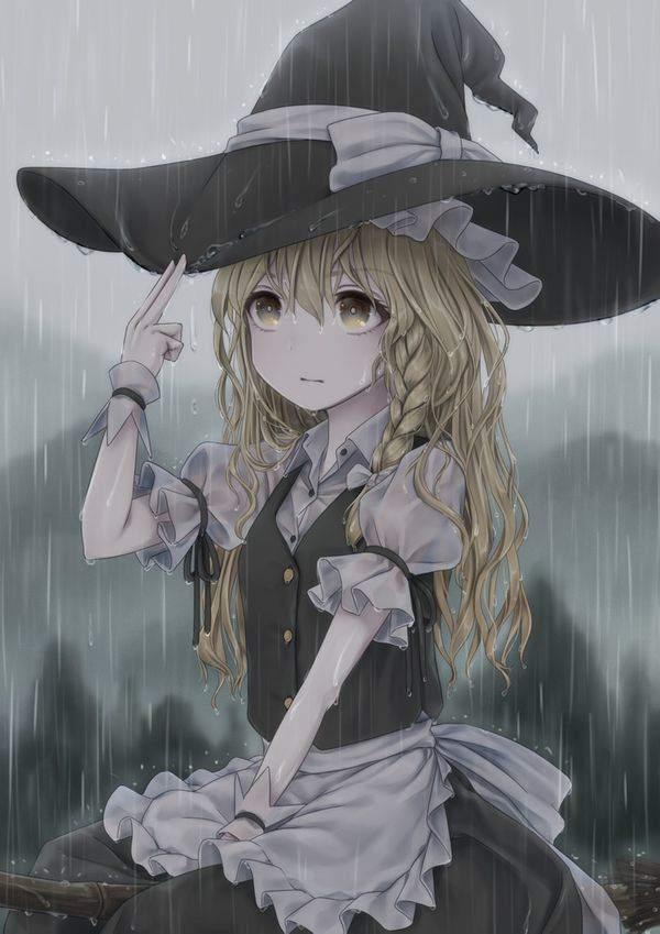 【傘が無い】雨に打たれる女子達の二次エロ画像【33】
