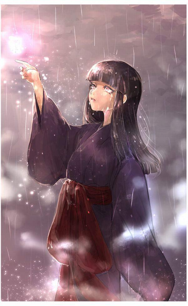 【傘が無い】雨に打たれる女子達の二次エロ画像【37】