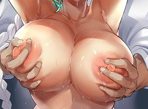 【河西智美】後ろから生乳揉まれてる二次エロ画像