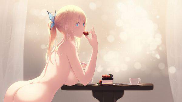 【暑いから】全裸でご飯食べてる二次エロ画像【31】
