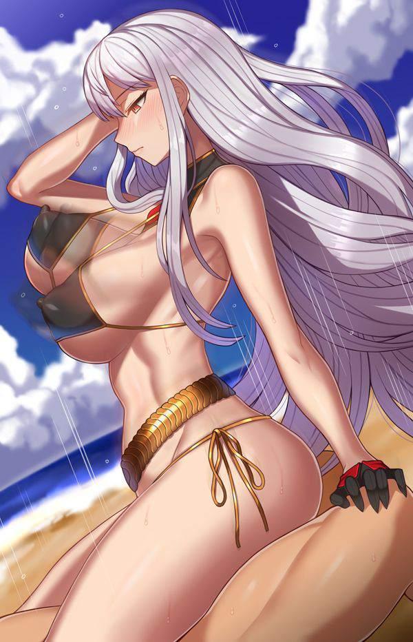 【夏の風物詩】砂浜でセックスしてるチャラい男女の二次エロ画像【7】