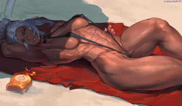 【スパイス効いてそう】褐色腋の二次エロ画像【26】