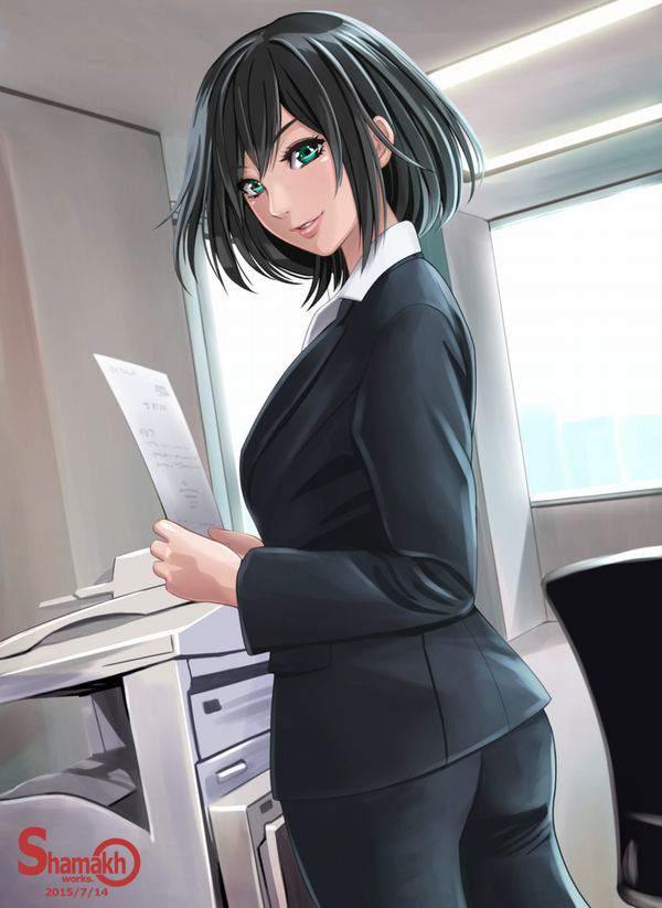 【日常の中のエロス】オフィスで働く女の子達の何気ない二次エロ画像【14】