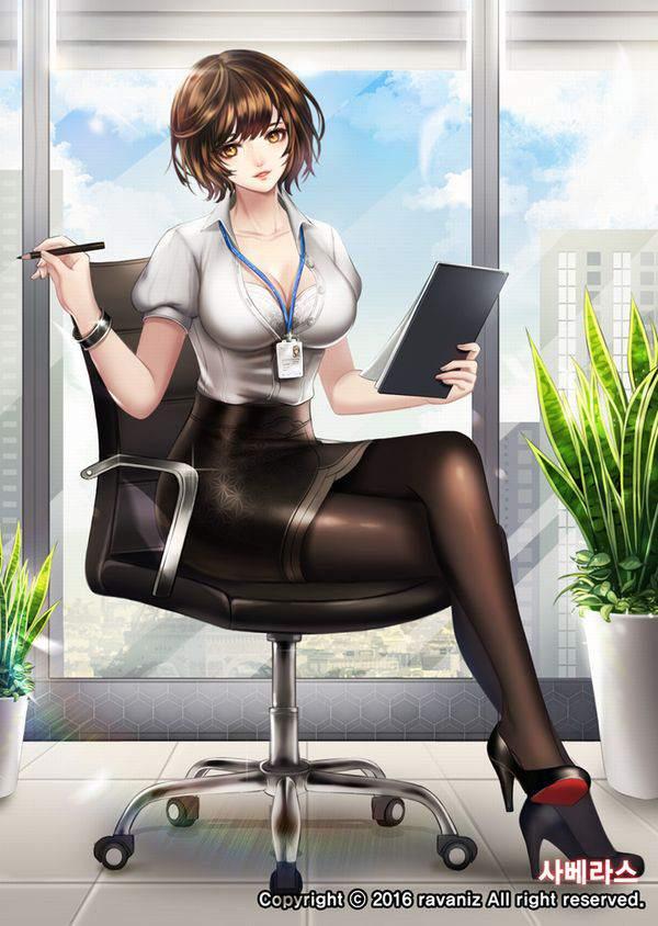 【日常の中のエロス】オフィスで働く女の子達の何気ない二次エロ画像【32】