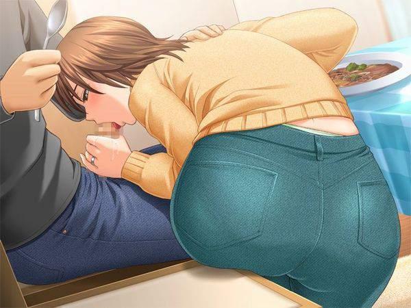 【食いしんぼう】チンポを美味しそうに頬張る熟女達の二次エロ画像【11】