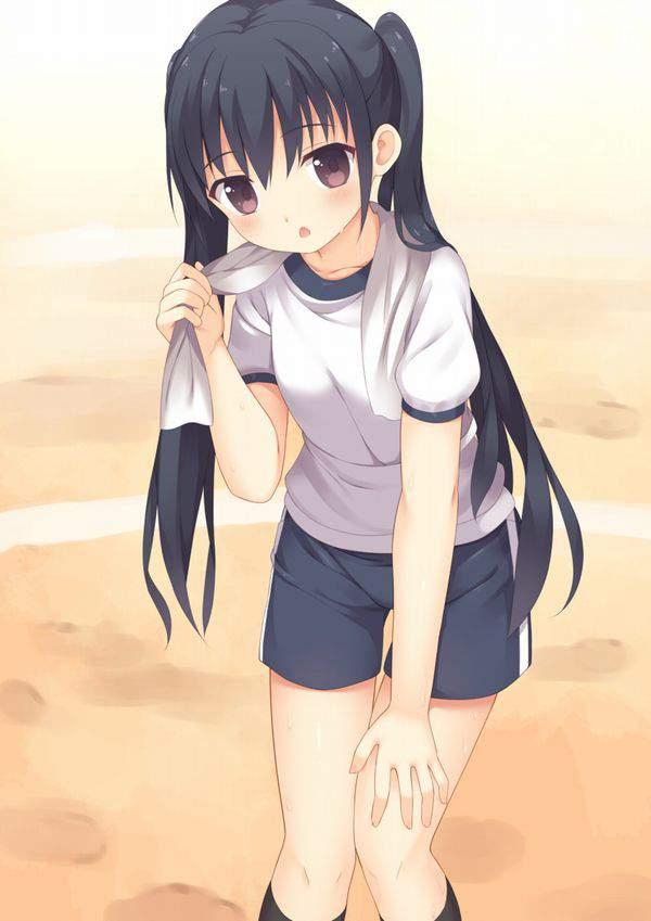 【芳しい】首にタオルをかけた汗だく女子達の二次エロ画像【13】