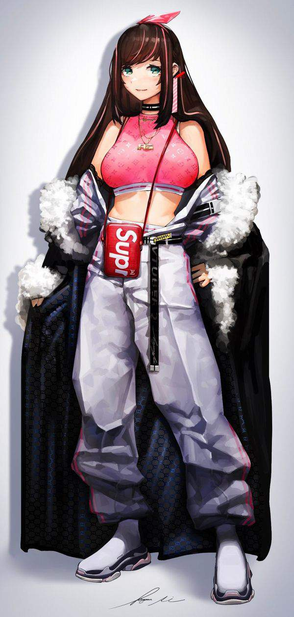 【並んで買ったの?】SUPREME(シュプリーム)を着てる女子達の二次画像【16】