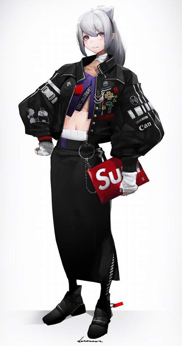 【並んで買ったの?】SUPREME(シュプリーム)を着てる女子達の二次画像【20】