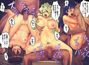【天元突破グレンラガン】黒の兄弟の3人組(キヨウ・キノン・キヤル)のエロ画像